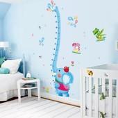 Ростомер-наклейка для детской комнаты Слоник