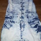 джинсовый сарафан состояние нового