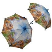 Зонтик Добрый динозавр Cerda полоска, прозрачный зонт (зонты, зонтики)