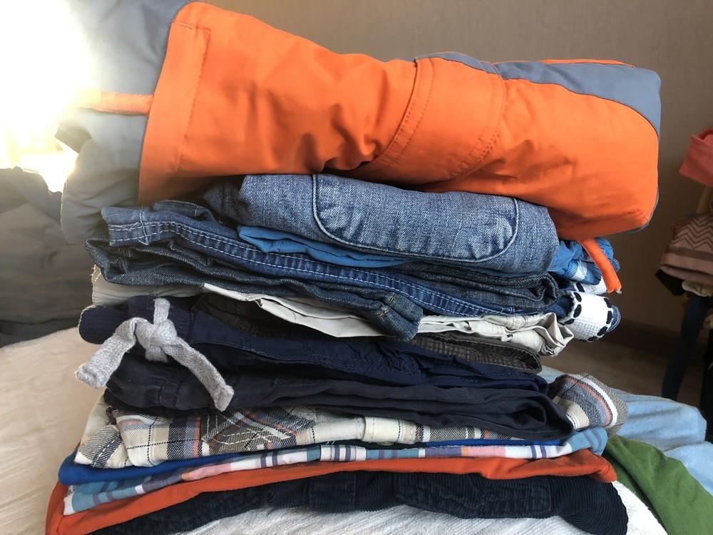 Пакет вещей мальчику 1,5-3 лет рубашки джинсы куртка футболка фото №1