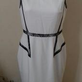 элегантное кремовое платье карандаш с кружевом Oasis