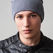 Вязаная шапка-колпак мужская Premium UniX фума - 6 цветов
