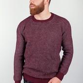 Свитер вязаный мужской, джемпер №27F026 бордо,горчичный,джинс,коричневый,черный,серый