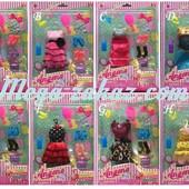 Одежда для кукол Барби/Монстер Хай, 8 видов: аксессуары в комплекте
