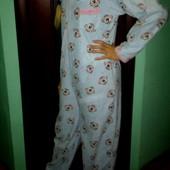 Слип-пижама флис размер S.На рост 170см!Состояние отличное!