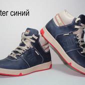 Зимние кожаные ботинки Винтер.син