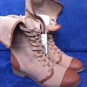 Осенне-весенние женские сапоги-ботинки (размер 37, 40)