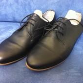 Мужские ►кожаные туфли Zara (размер 45/стелька - 30см)