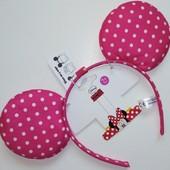 Новый обруч ушки Minne Mouse розового цвета
