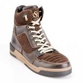 мужские кожаные ботинки Код:080к