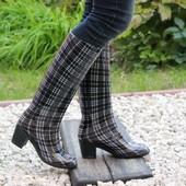 Сапоги силикон на каблуке Т023