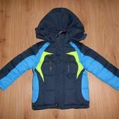 Зимняя куртка для мальчика р116 (см замеры в тексте)