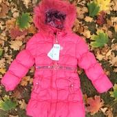 Плотный и теплый пуховик-пальто р116-128 (точно см текст)