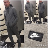 Мужской спортивный костюм на молнии, копия Nike