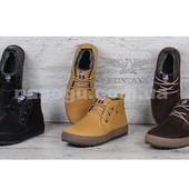 Ботинки кожаные Montana на натуральном меху 3 цвета, прошитые