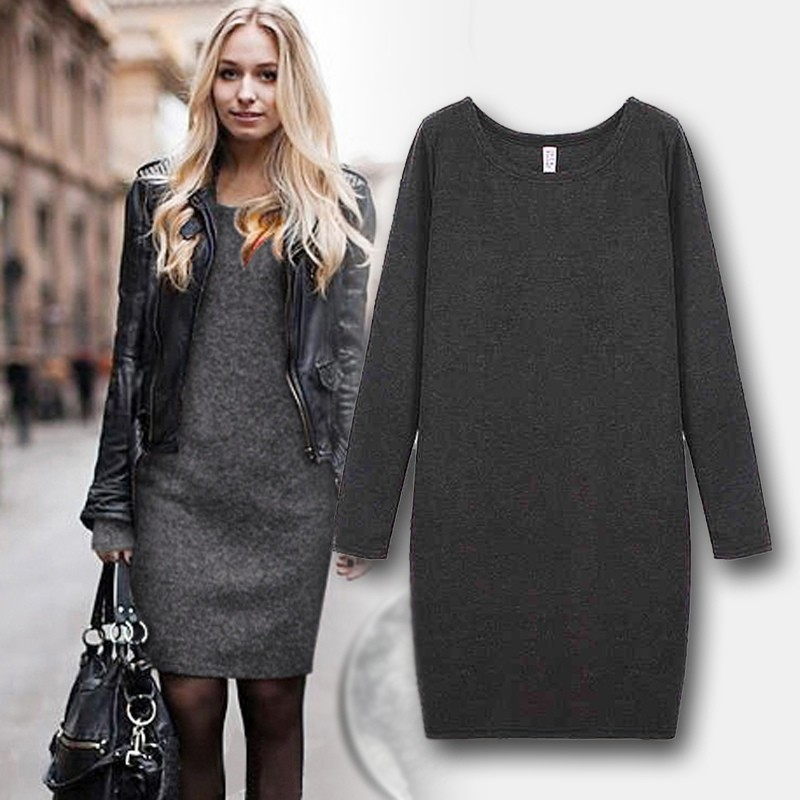 Платье на меху, реал фото (батал 510 грн) фото №1
