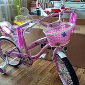 супер новинка!!! Двухколесный велосипед для девочек Rueda на 12, 16,18, 20 д
