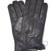 Мужские кожаные перчатки из оленьей кожи с махровой подкладкой.