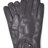Мужские кожаные перчатки из оленьей кожи с махровой подкладкой