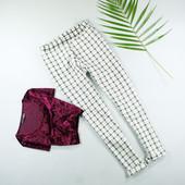 S-M Boohoo стильные брюки в клетку!0378
