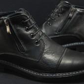 Классические зимние кожаные ботинки