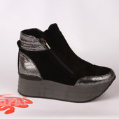 Новинка! женские кожаные ботинки/полусапожки деми/зима Модель : z 18-20