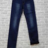 Мужские джинсы на флисе (зауженные к низу) Luvans, 28-33 размеры