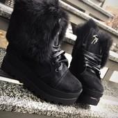 Зимние ботинки Натуральніе  Кожа, мех