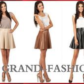 Модная юбка Solnce-Кожа. Три цвета