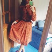 Крутое шифоновое платье, с кожаным ремнём
