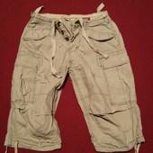 Фирменные плотные х/б шорты - карго серого цвета Jack & Jones. Дания M