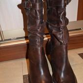 Стильные кожаные сапоги итальянского бренда vera gomma - эксклюзив (италия)