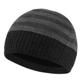 Мужская теплая шапка. темно-серая