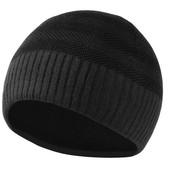 Мужская демисезонная шапка. темно-серая и черная