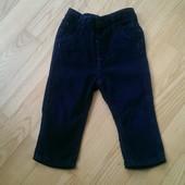 Вельветовые штаны, синего цвета, в отличном состоянии