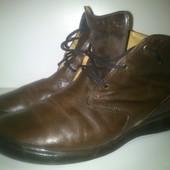 """Ботинки кожаные """"clarks"""" 41 размер, по стельке 25.5см."""