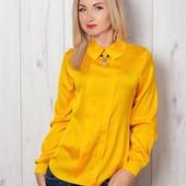 Нарядная блуза из атласного шелка