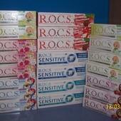 продам зубная паста ROCS (рокс) 0-18  лет и взрослая