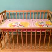 Дитяче ліжечко, матрасик, балдахін, ковдрочка