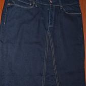 Оригинал юбка левис миди синяя джинсовая плотный качественный джинс сток