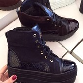 Стильные ботинки Кожа и замш 36-40р