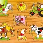 Вкладыши «Домашние животные», Мир деревянных игрушек Артикул: Р12
