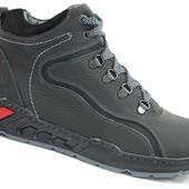 Мужские кожаные ботинки зима