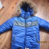 зимняя курточка мальчику 8-9 лет
