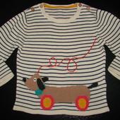 свитер M&S 12-18 мес 100% коттон состояние отл.
