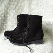 Esprit р.36 ботинки на шнурках замшеві