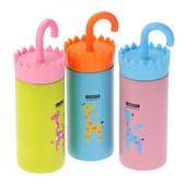 """Термос """"зонтик - ручка"""" - жираф, 3 цвета, 250 мл."""