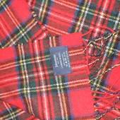 тёплый шарф стильная клетка 100% шерсть Шотландия
