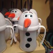 Поильник (стакан) c  трубочкой и ручками Disney