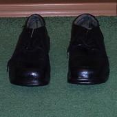 Туфлі  шкіряні з металевим захистом розмір 44 Trojan